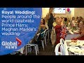 watch he video of Royal Wedding: People worldwide celebrate Prince Harry, Meghan Markle's wedding