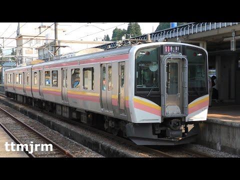 4K 上越線E129系ダブルパンタ 小出駅発着/Joetsu Line E129 Series at Koide Station/2016.08.06