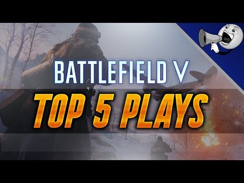 Battlefield 5 Top 5 Plays #3: Sniped The Pilot In The Plane!! (BF5 Top Plays)