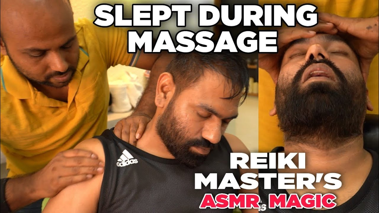 ASMR Head massage therapy, Neck Cracking which really made me Sleepy 🙂 Thanks REIKI MASTER