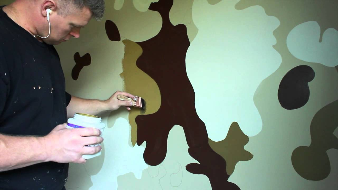 Bon Boys Bedroom Ideas Army Military Camouflage Room   YouTube