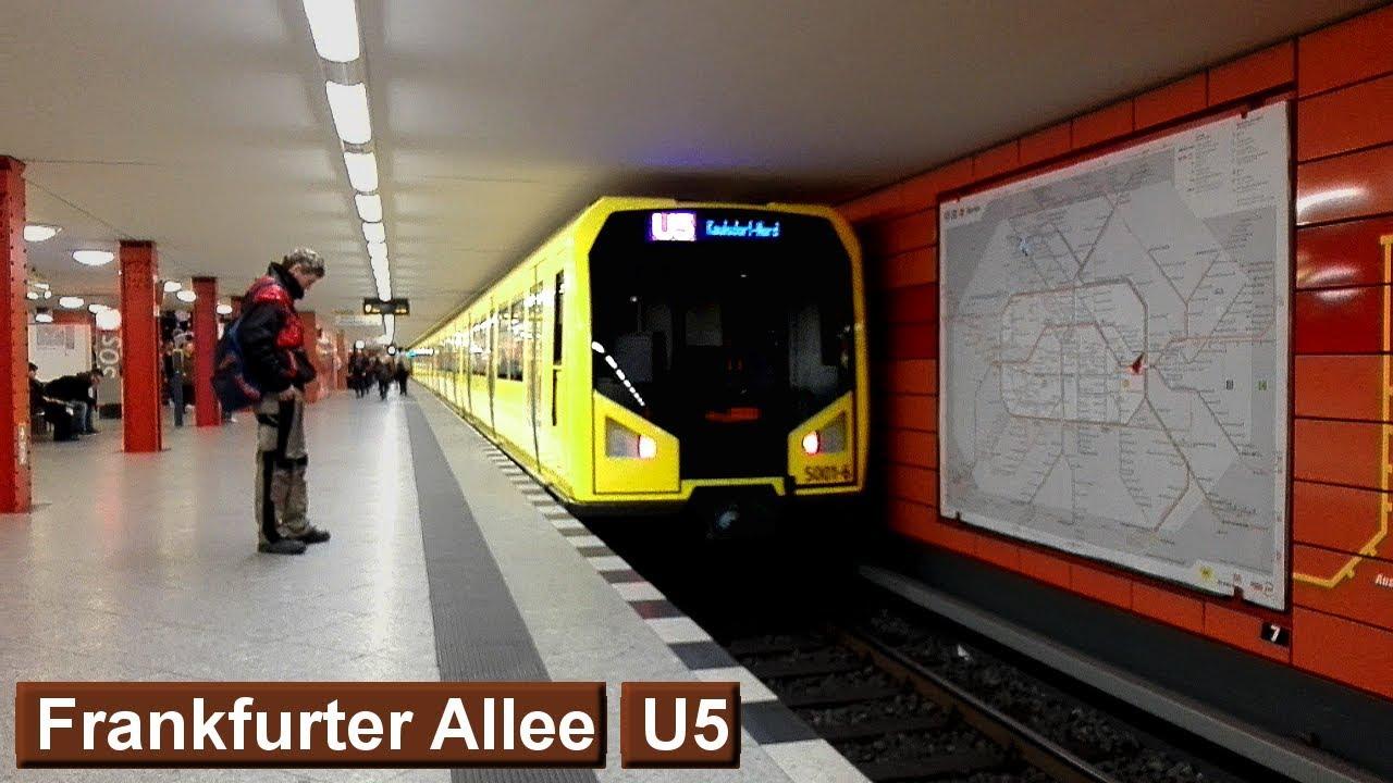 Frankfurter Allee U5 : U-Bahn Berlin ( BVG H ) - YouTube