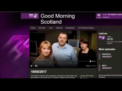Common Thread on BBC Good Morning Scotland 19 May 2017