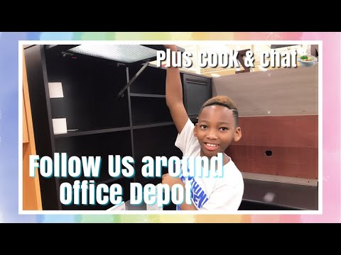 Office Depot Run & Let's Cook And Chat!!!! | DAY IN THE LIFE WORKING MOM OF 2 | LifeAsBrittany