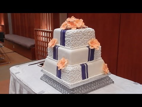 The Making Of A Wedding Cake Start To Finish In Under 10 Minutes