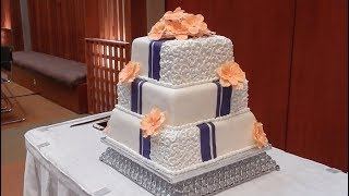 The Making of a Wedding Cake | Start to Finish in Under 10 Minutes!