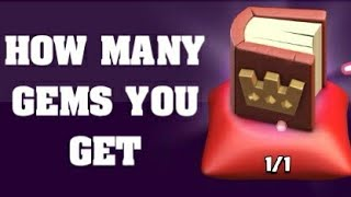 HOW MANY GEMS YOU GET IF YOU SELL BOOK OF HEROES | CLASH OF CLANS | 2018-19