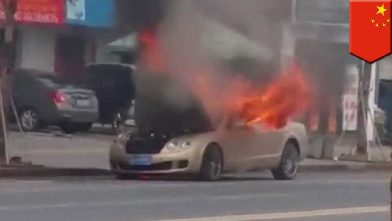 Exploding sports car: $750K Bentley bursts into flames while parked on the street
