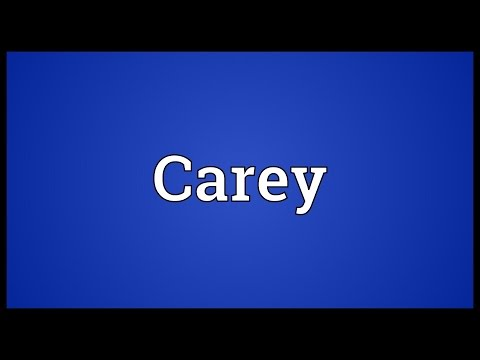 Carey Meaning