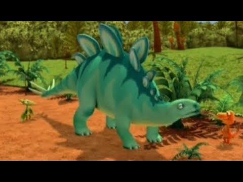 Поезд динозавров Стадо Стегозавров Мультфильм для детей про динозавров