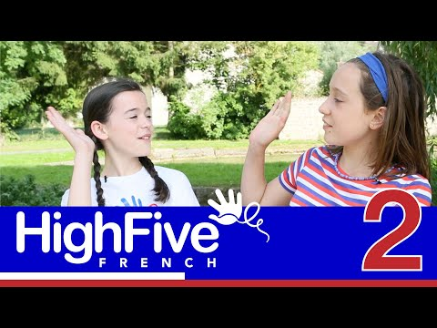 "French for kids: how to introduce yourself and ask ""what is your name?"" - High Five French Sample"