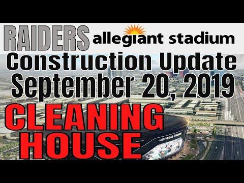 Las Vegas Raiders Allegiant Stadium Construction Update 09 20 2019