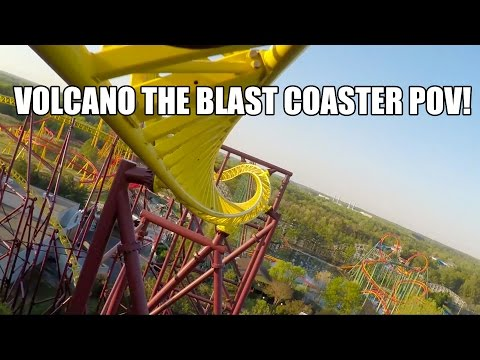 Volcano The Blast Coaster POV Kings Dominion Front Seat View