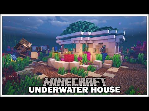 Minecraft Underwater Starter House [How To Build]