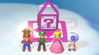 Super Mario 3D World - All Mystery Houses (4 Players)