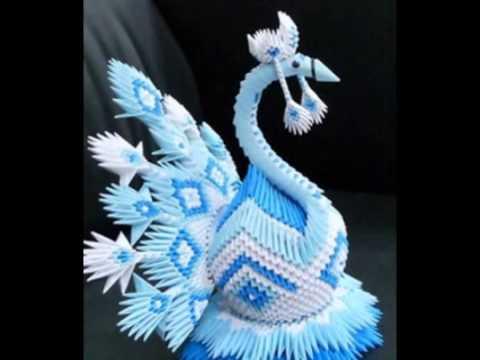 Модульное оригами Царевна лебедь