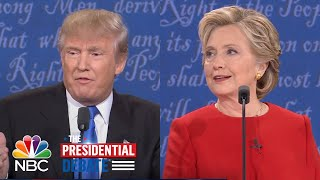 Trump to Clinton: Why After 30 Years Do You Now Have Job Solutions? | NBC News