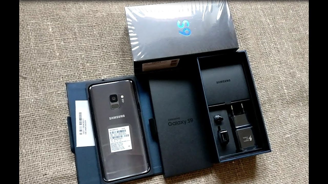UNBOXING Samsung Galaxy S9 - YouTube