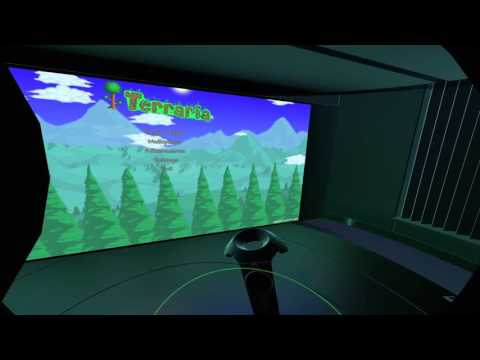 SteamVR's Desktop Theater in Action on the HTC Vive