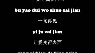 G.e.m. 邓紫棋 - 再见 (goodbye) Pinyin Simplified Chinese Lyrics Hd