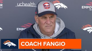 Coach Fangio on improving defense: 'We didn't give up when we weren't getting [takeaways]'