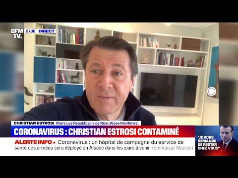 Testé positif au coronavirus, Christian Estrosi rassure sur son état de santé sur BFMTV