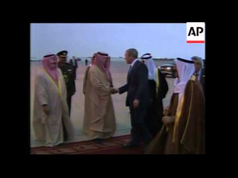 President Bush Arriving In Kuwait