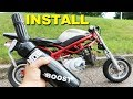 Pocket Bike DOUBLE NOS Kit Install First Test Ride!