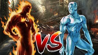 The Human Torch vs Iceman! Fire vs Ice! Two polar opposites going h...