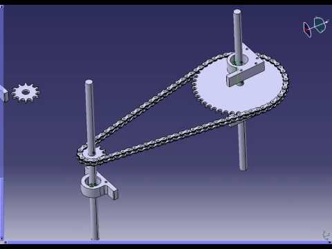 chain animation in Catia