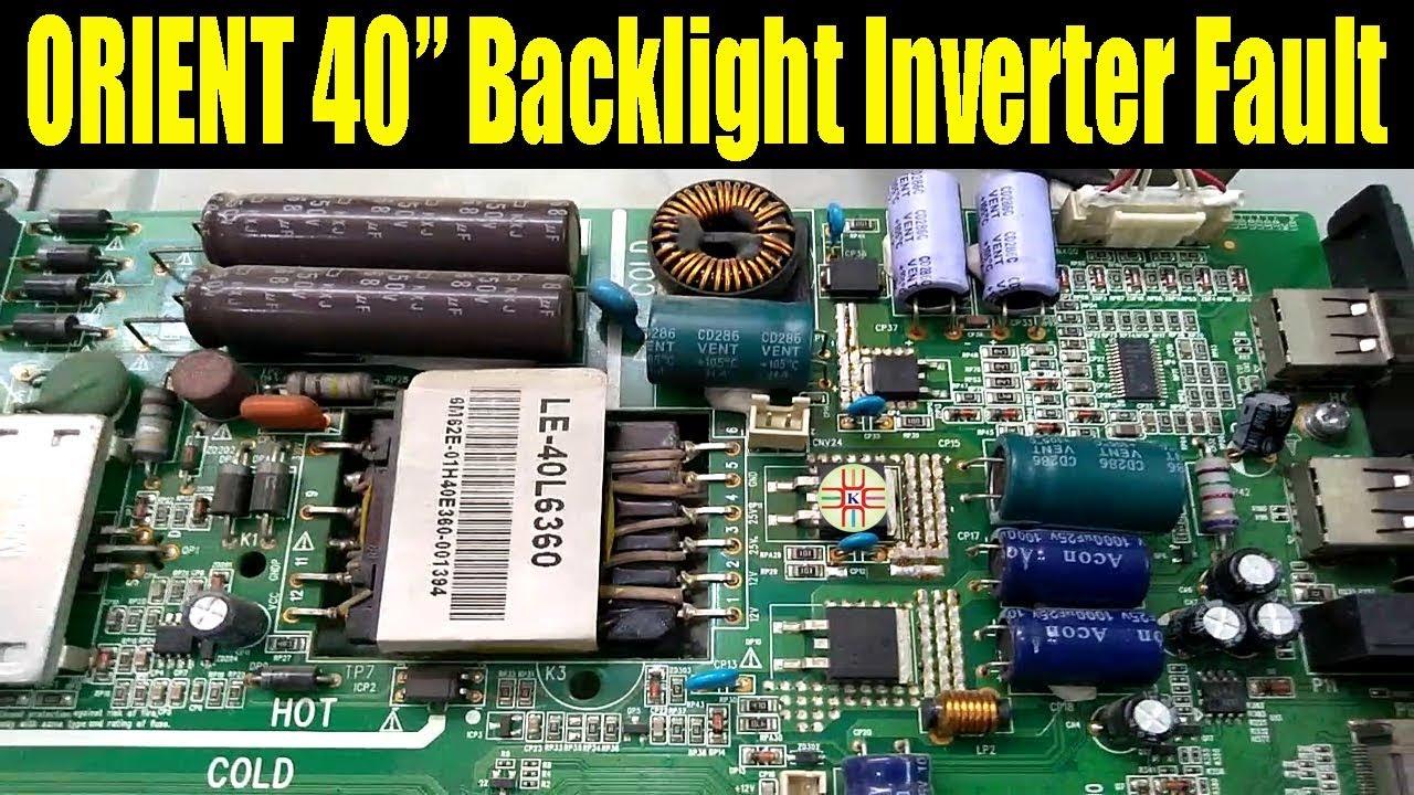 ORIENT 40` LED TV Backlight Inverter Problem  Black Screen But Sound OK   Solution in Urdu/Hindi