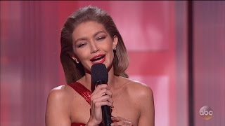 gigi hadid faces backlash for melania trump impression at amas