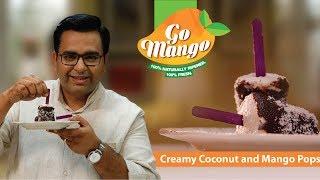 Creamy Coconut and Mango Pops #GoMango