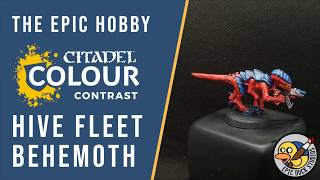Painting Hive Fleet Behemoth Tyranids with CONTRAST Paints by Citadel