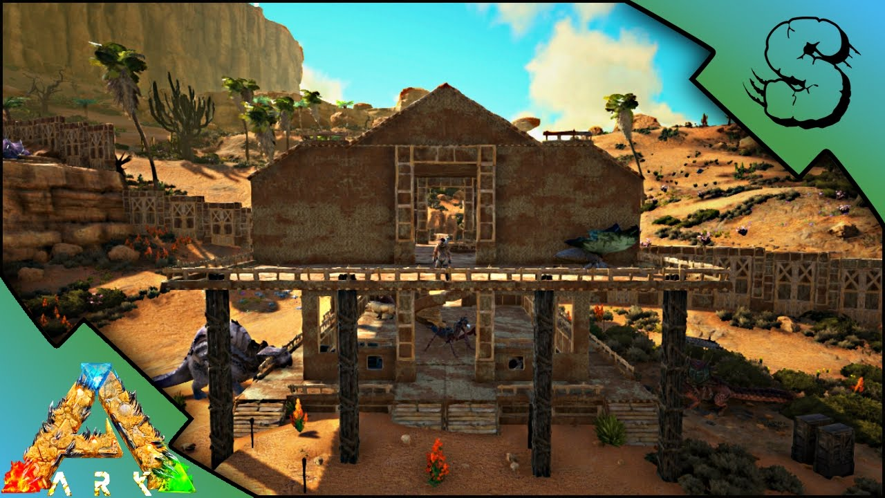 Adobe house build ark scorched earth gameplay e16 youtube - How to build an adobe house ...