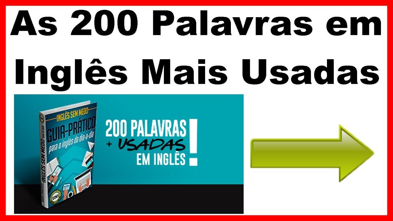 200 Palavras em Ingles com Traduç u00e3o em Portugues Parte 1 YouTube -> Decoração De Montras Em Ingles