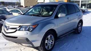 Pre Owned Silver 2009 Acura MDX SH-AWD Technology Package Review Alberta