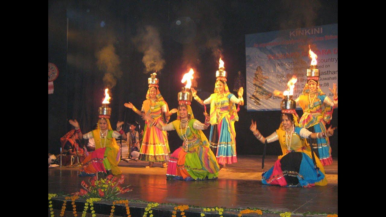 Rajasthani Ghoomar Dance folk dance programme -...