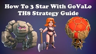 How to GoVaLo at TH8 & Th9 in Clash of Clans | One Of the best attacks Strategy COC | Balloon Event