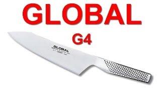 ЯПОНСКИЙ КУХОННЫЙ НОЖ GLOBAL G4 И НАРЕЗКА САЛАТА
