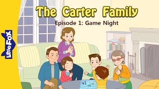 The Carter Family 1 | Game Night | Family | Little Fox | Animated Stories for Kids