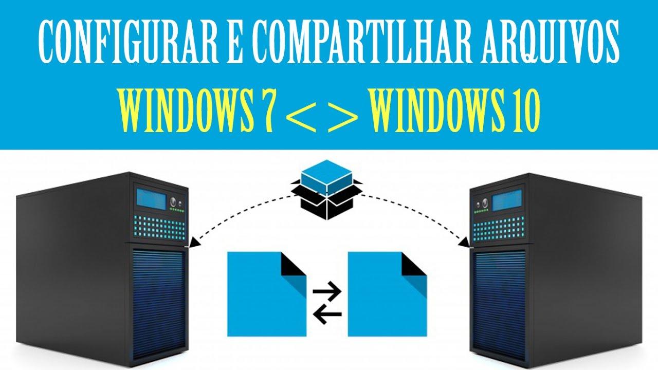 Configuração de rede e compartilhamento de arquivos no Windows 7 e Windows  10