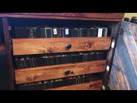 DIY Custom Entertainment Center with built-in sound bar, DVD player, DVD racks
