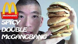 McDonald's SECRET MENU Double McGangBang Burger - Spicy Edition