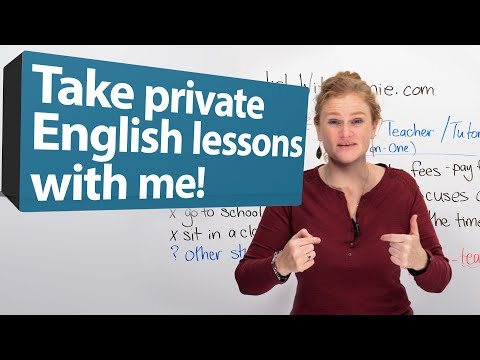 Take PRIVATE ENGLISH CLASSES with RONNIE!