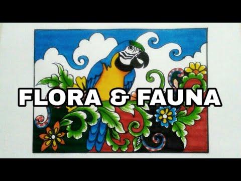 Menggambar Ragam Hias Flora Dan Fauna Yang Keren Youtube