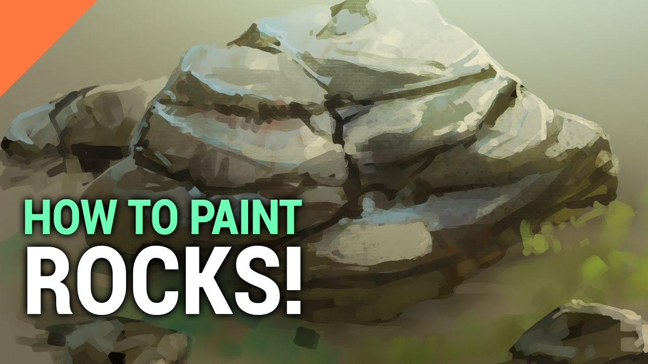 How to paint rocks in photoshop youtube for How to paint 3d