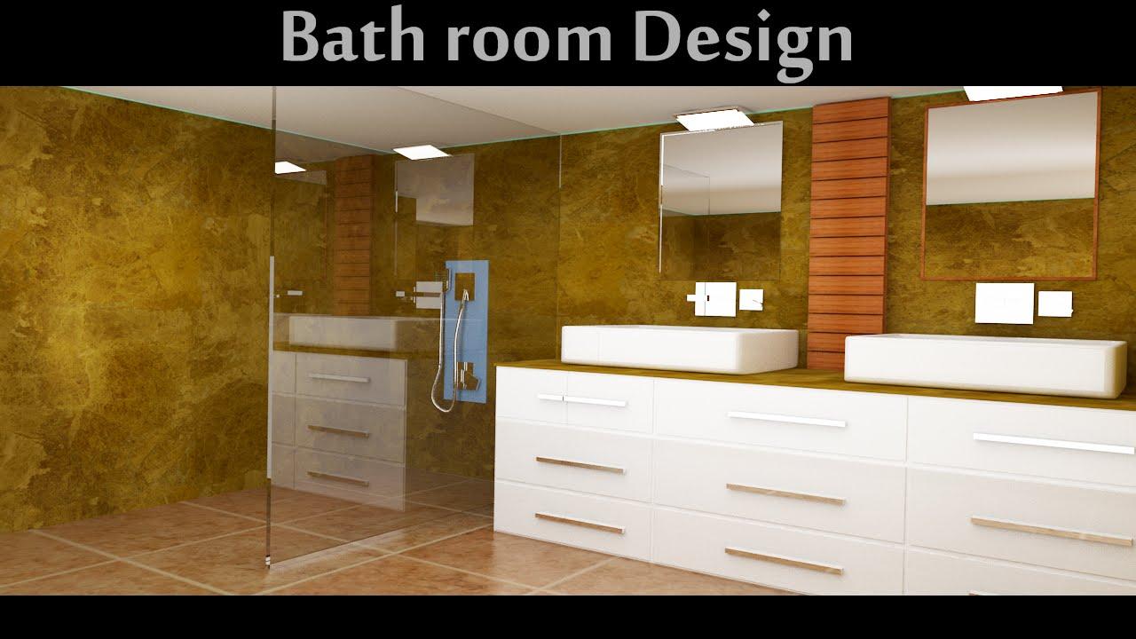 Bathroom design in 3D max part04 - YouTube