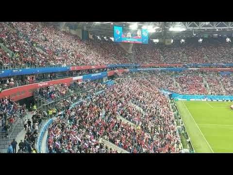 Russia vs. Egypt @ World Cup 2018. Russian national anthem