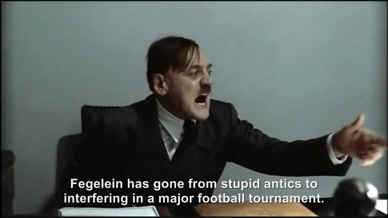 Hitler is informed Spain has won the World Cup and Fegelein is eliminated